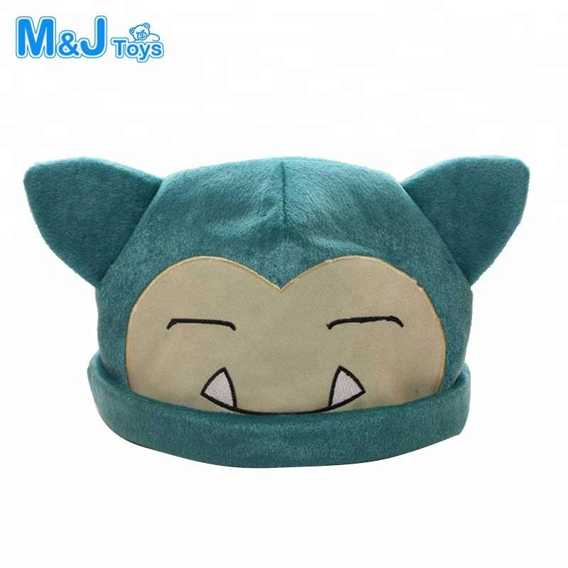 Japanese Anime Adult Kids Pokemon Pikachu Mimikyu Plush Hat Cosplay Custome Props Accessories Cartoon Warm Cap Headwear Hat Costumes & Accessories Boys Costume Accessories