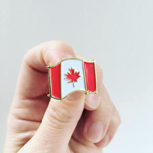 Canadian Flag Maple Leaf 150th Birthday Enamel Pin