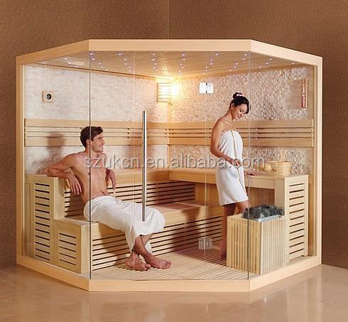 ocenica sauna tradicional de madera macizasala de cabina de ducha de bao turco