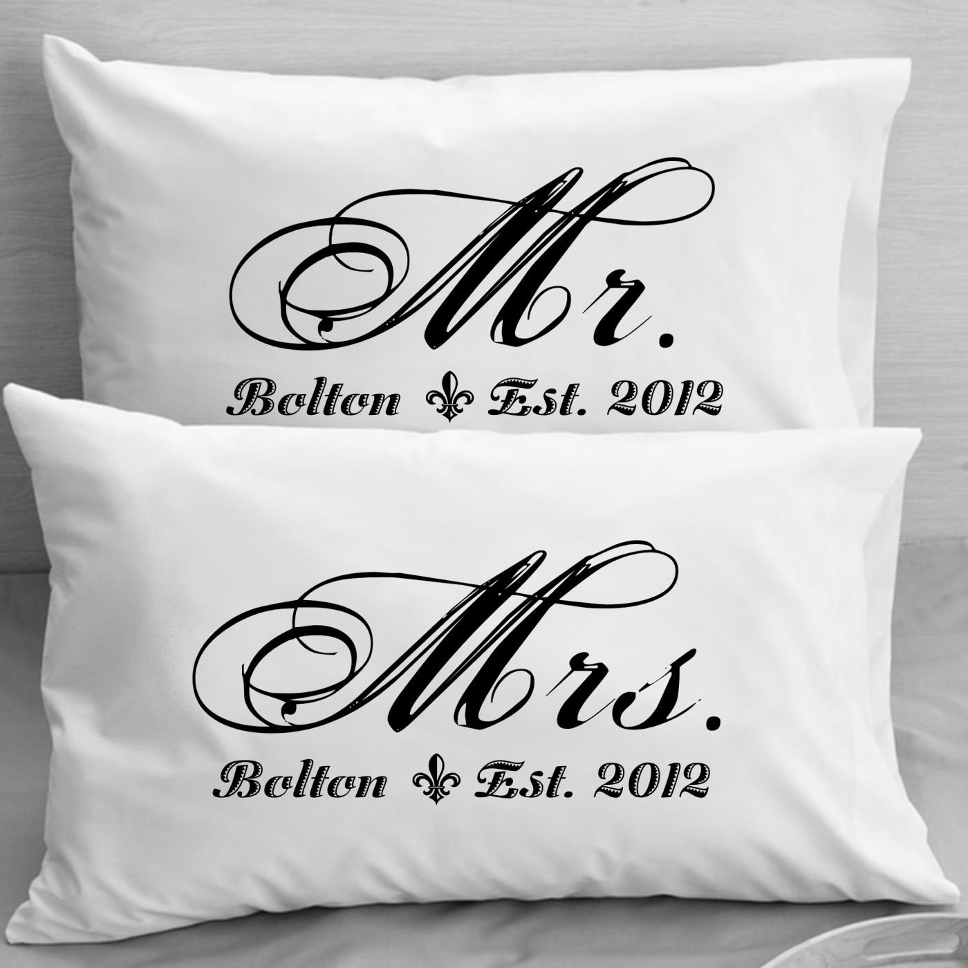 Buy Mr And Mrs Pillowcases Personalized Wedding Gift Anniversary