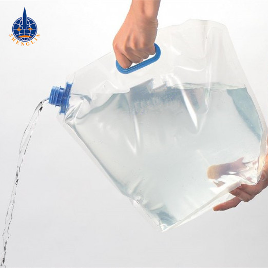 5L 10 Liter Foldable Portable Emergency Drinking Water Carrier Storage Plastic Bag Food Grade with Handle