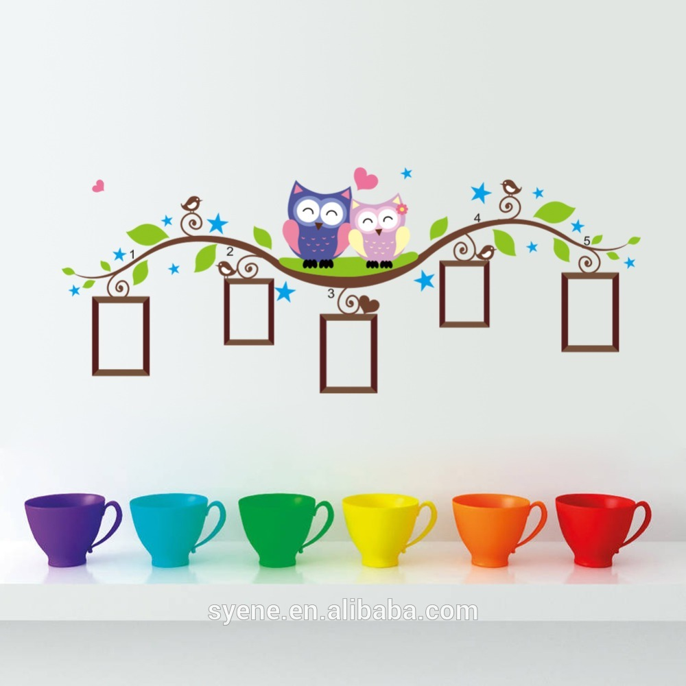 cartoon animation wall stickers cute owl photo frame wall stickers cartoon animation wall stickers cute owl photo frame wall stickers owl tree branch baby wall stickers