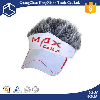 Eco friendly embroidery long bill sun visor cap with fake hair eco friendly embroidery long bill sun visor cap with fake hair ccuart Images