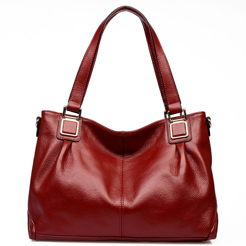 New women genuine leather bag First layer of Cow leather bags for women handbags designer shoulder crossbody bags high quality
