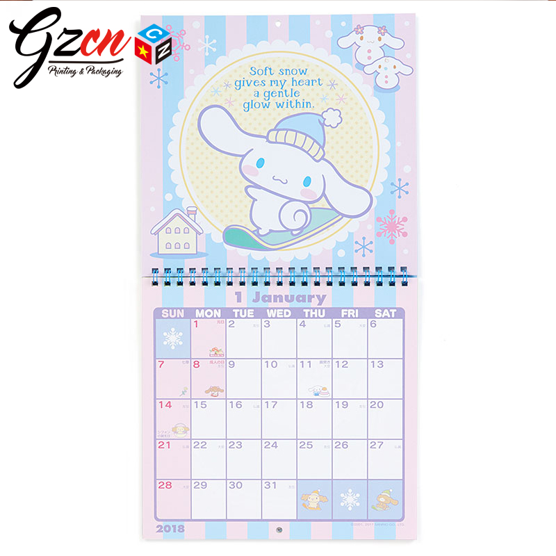 cheap custom wholesale design oversize advent with tear off a3 size wall calendar