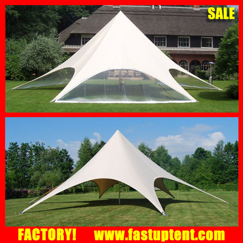PVC fabric pole stretch star shaped party wedding tent for outdoor event