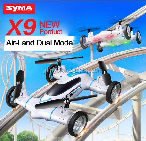 New Arrival Rc Flying Car 6-axis 2.4ghz 4ch Remote Control Quadcopter Syma X9 Racing Drone RC