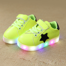 LS017.032 Baby Girls boy LED Light Shoes Toddler Anti-Slip Sports Boots Kids Sneakers Children Cartoon PU Flats shoes