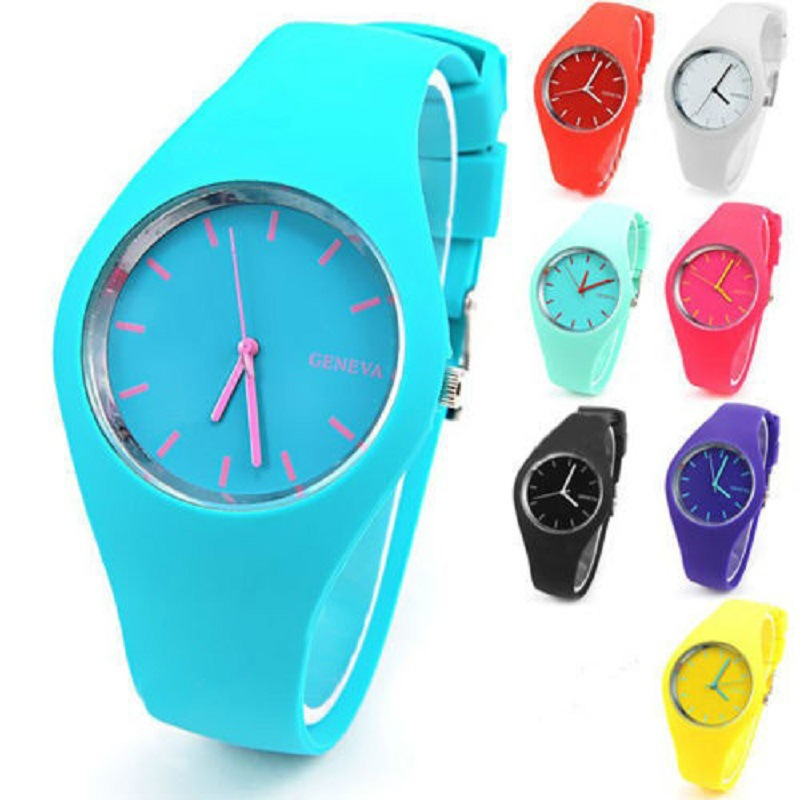 Factory price fashion sport silicone watches with customized logo High quality silicone watches for men/women