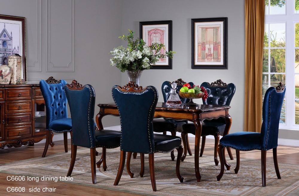 W6808 Alibaba French Bedroom Furniture Set Italian Classic Luxury Adult Room Rococo