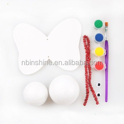 CU2273 Kids diy foam shapes craft , polystyrene foam balls , diy craft