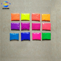 Neon color pigment powder coating fluorescent pigments