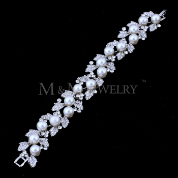 faux hermes - Sl089 Wedding Brighton Cheap Faux Pearl Jewelry Bridal Bracelet ...