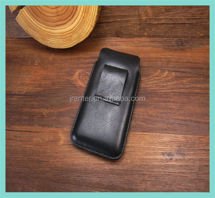 OEM Leather Pouch Case for for iPhone 6 Wholesale Belt Clip Cell Phone Pouch for Men