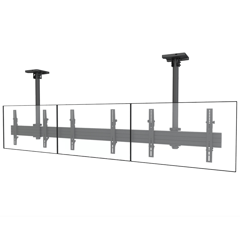 High Quality Pole Adjustment TV Ceiling Mount For Triple Screens