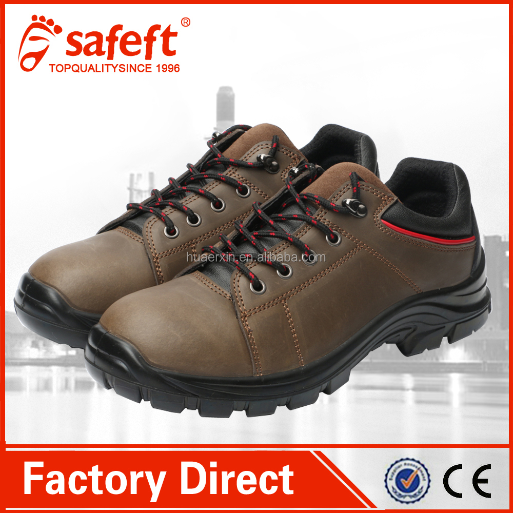 Fashion brown Nubuck american safety shoes