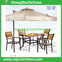 1002-810 Latest Wooden Furniture Designs Outdoor Wood Plastic Garden Patio, balcony and park use