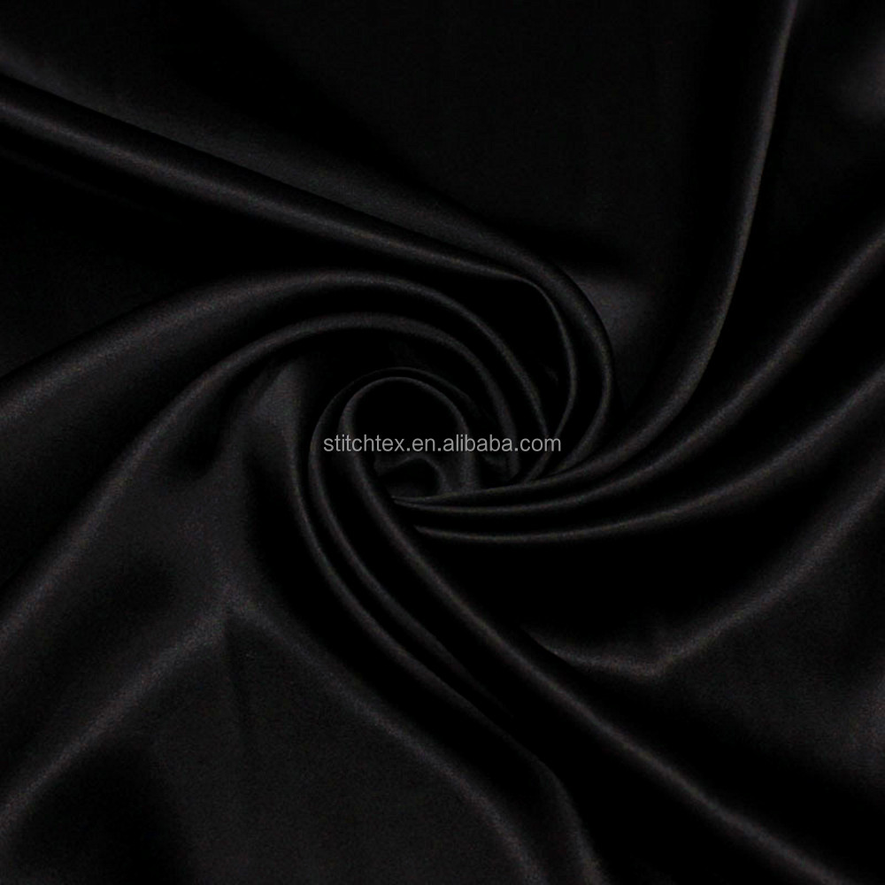 75D*100D Polyester Charmeuse luxury fashion fabric