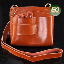 Popular Real Leather single bags stylish bag hold hair scissors and thinning good quality shoulder bag EMG5203