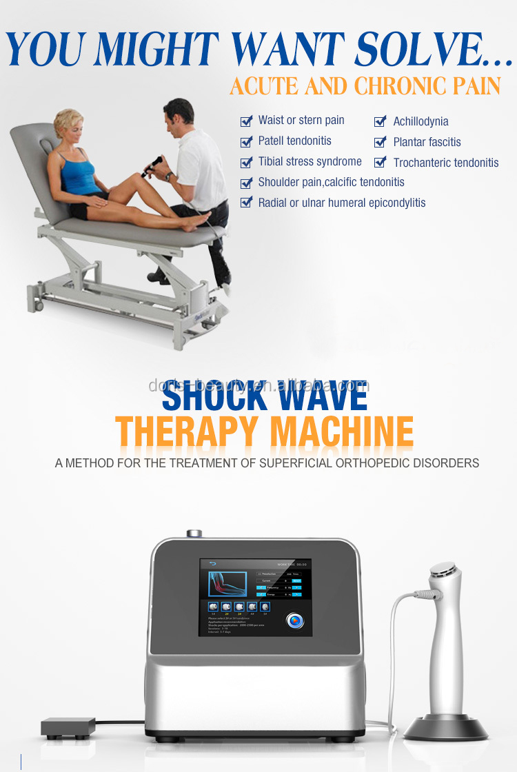 2017 newest shockwave cellulite-therapie /shock wave therapy for back pain relief SW8