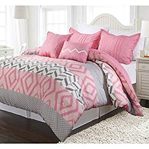 5 Piece Full Queen Pink Camo Comforter Set, Reversible Bedding, Stylish  Luxury Bedding, For Modern Master Bedrooms, Gorgeous and Beautiful Quality,  ...