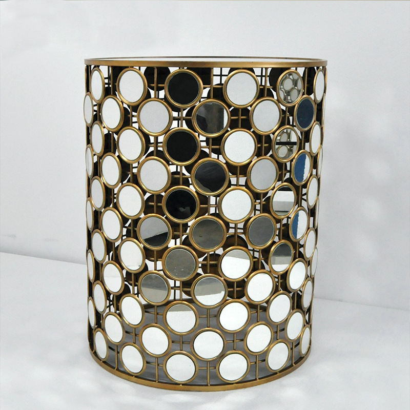 Hot sales kleine mirrored cilinder end salontafel//thee tafel ...