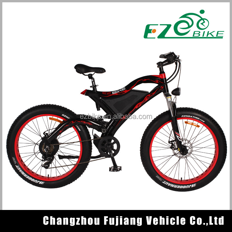 easy rider 500w green power fat tire electric mountain bike