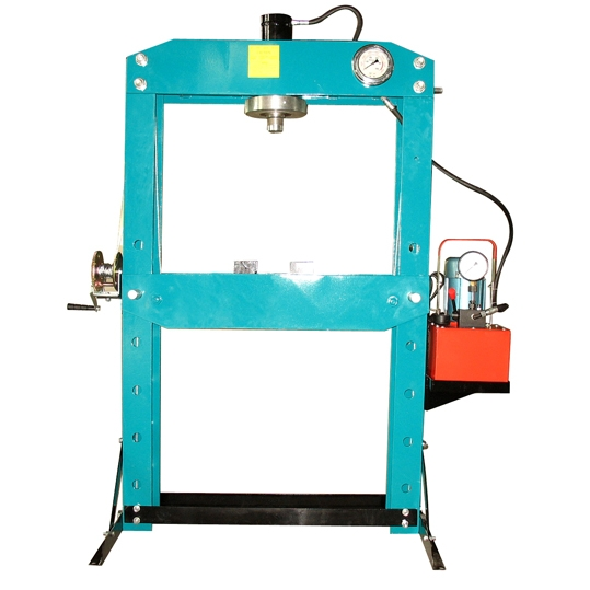 50Ton High Speed Electric Power Hydraulic Shop Press with Cable Winch