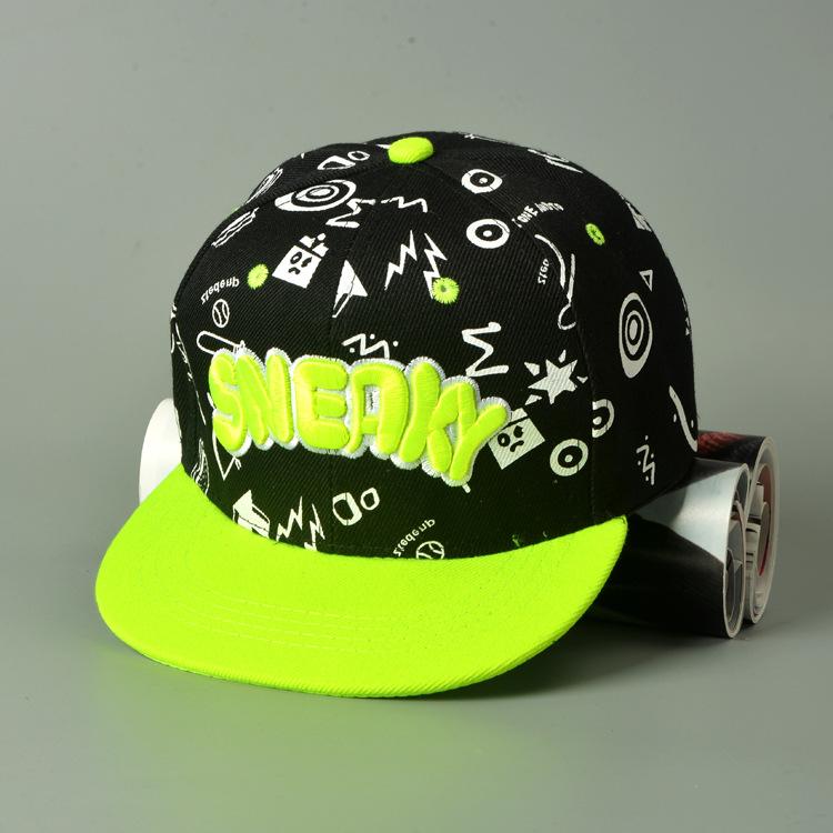 Hat Unisex Cotton Promotion Casual 2016 New Children Letter Fashion Hip Hop Snapback Caps Flat Kids