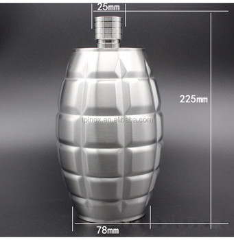 64 OZ Alcohol Flask Stainless Steel Portable Hip Flask