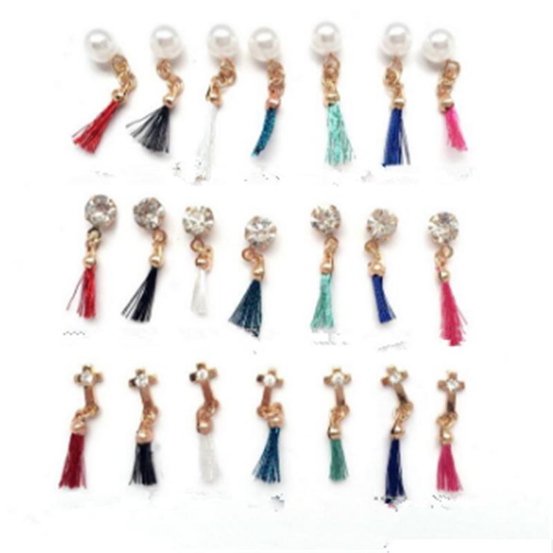 Japanese Stylish Professional Nail Dangle Jewelry Fringing Dimond ...