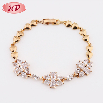 Best Birthday Gift For Girlfriend Crystal14K Gold Jewelry Women Bracelet