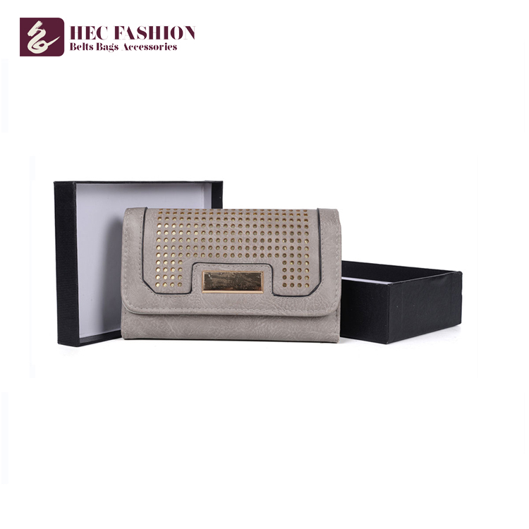 HEC Custom Fashion  PU Leather Women Trends Lady Purses Multicolor Wallet