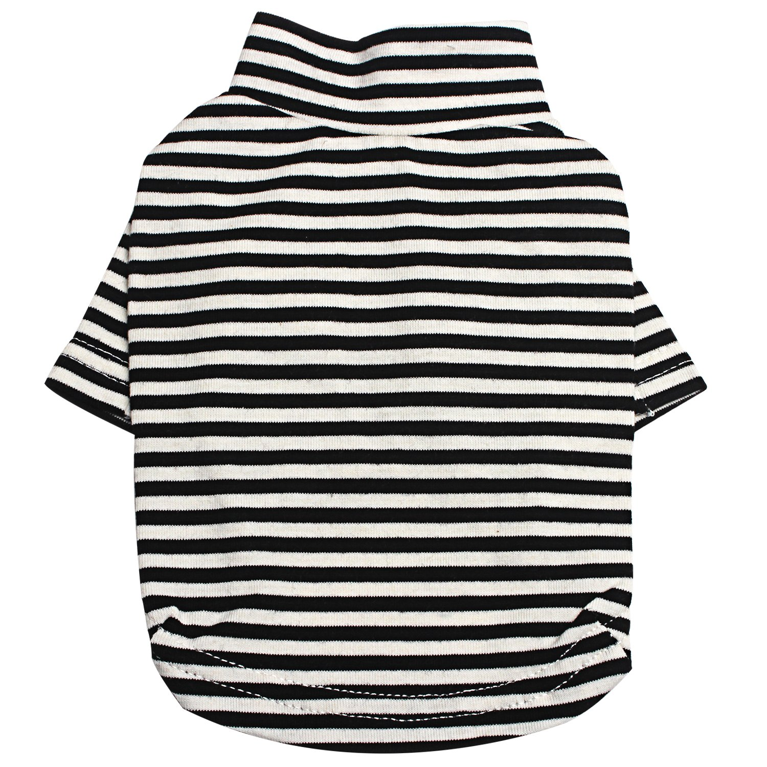 TONY HOBY Pet Dog Shirts Striped Dog T-Shirts Cotton Made Puppy Clothes for Small Medium Large Dogs