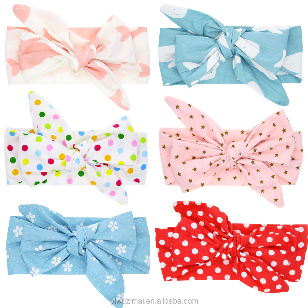 Wholesale Newborn Baby Fabric Cotton Elastic <strong>Headband</strong> Toddler Baby Girls Rabbit Ear Models <strong>Headband</strong>