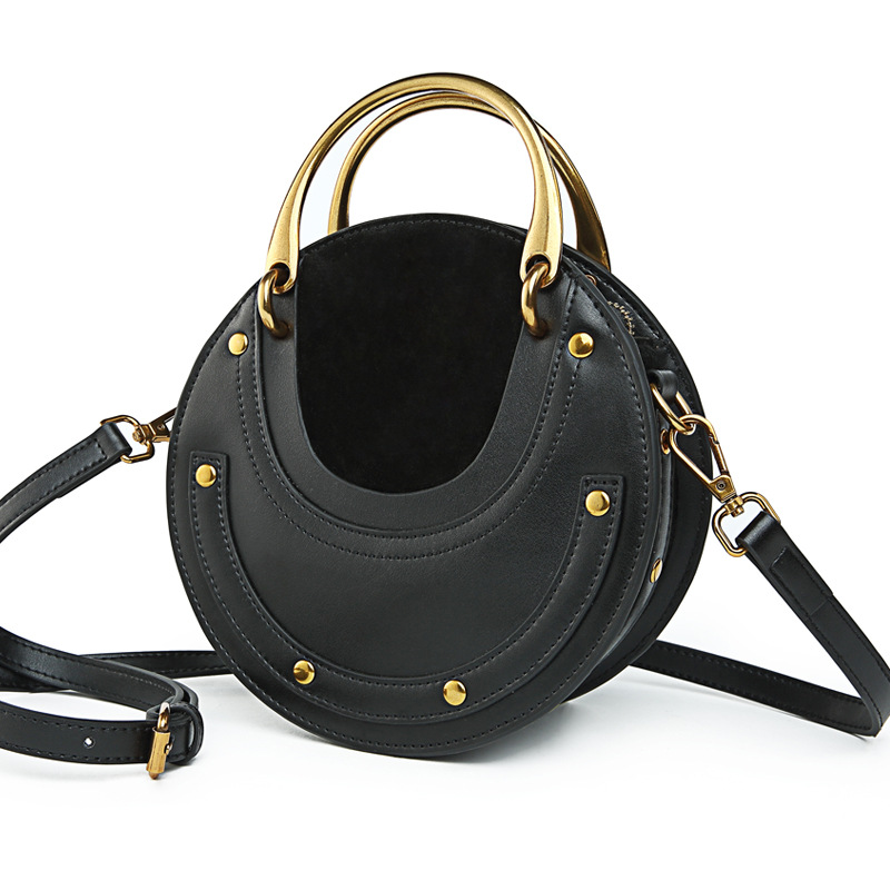 2019 new European and American style portable small round bag