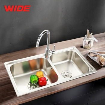 Commercial Double Bowl Kitchen Sink Stainless Steel 304 For Sale