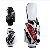 professional manufacturer PU leather golf bags pu leather golf bag cart bags