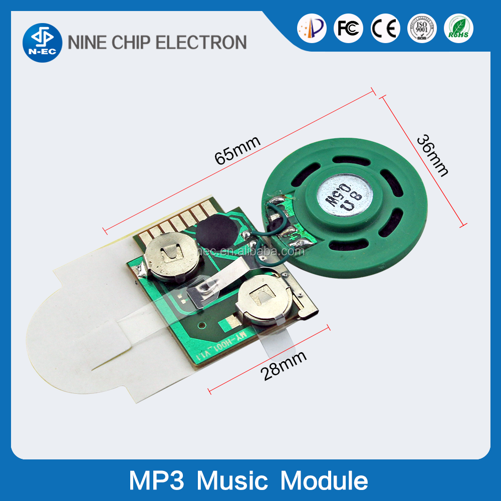 Programmed Recordable Greeting Card Sound Chip Random Music Module