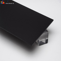 decorative 8x4 feet black color plexi glass flexible acrylic pmma sheets