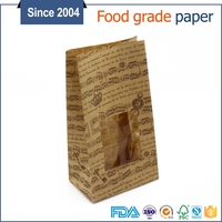 China supplier wholesale food grade eco material bread biodegradable paper packaging bag