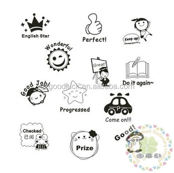 Reward Self Inking Stamp Custom Teacher Stamps Buy Cartoon Pre Inking Student Rubber Stamps Finger High Quality Teacher Stamps Educational Popular