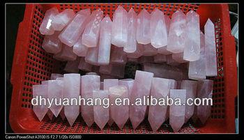 Cheap Natural Rose Quartz Crystal Carved Six Factes Healing Point ...