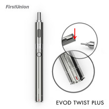New products 1300mah battery ego EVOD Twist Plus dual coil vaporizer pen