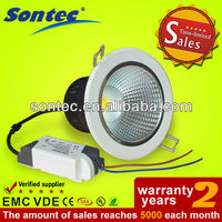 CE 3 inches IP33 7W COB led recessed downlight