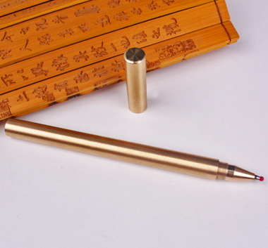 Best quality brass ballpoint pen with copper pen