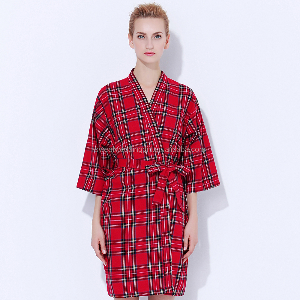 New Design Flannel Plaid Robes for the Entire Bridal party, Brides and Bridesmaids