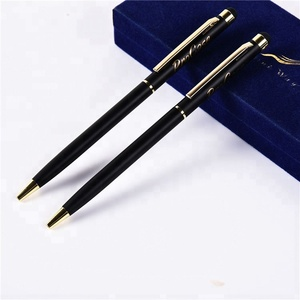 Factory Direct Sale Multi-function Gold Clip Black Metal Pen with 1.0mm Cross Ink