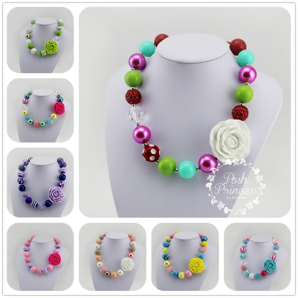 children gift fashion jewelry for toddler big flower kid jewelry set