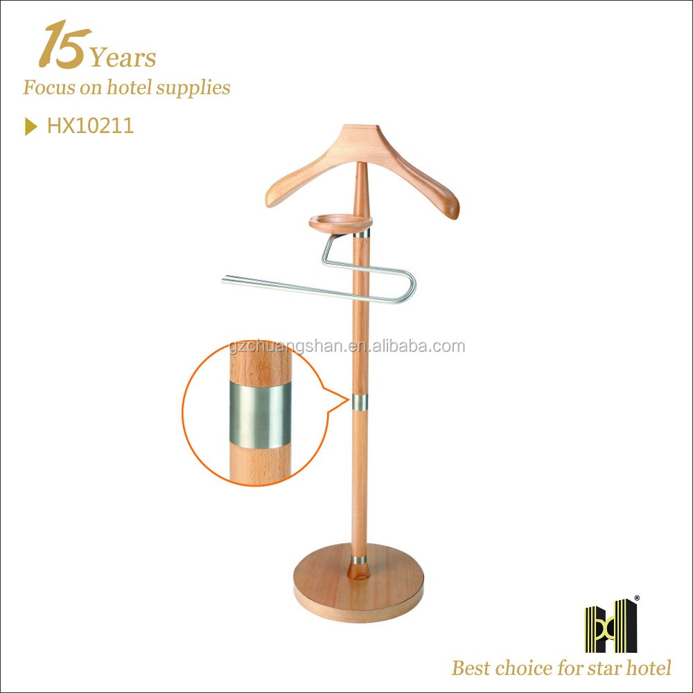 High Quality Wooden Clothes Hanger Stand